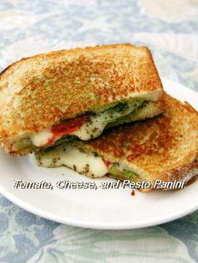 トマト、チーズとジェノベーゼのパニーニ by *茜* [クックパッド] 簡単 ...