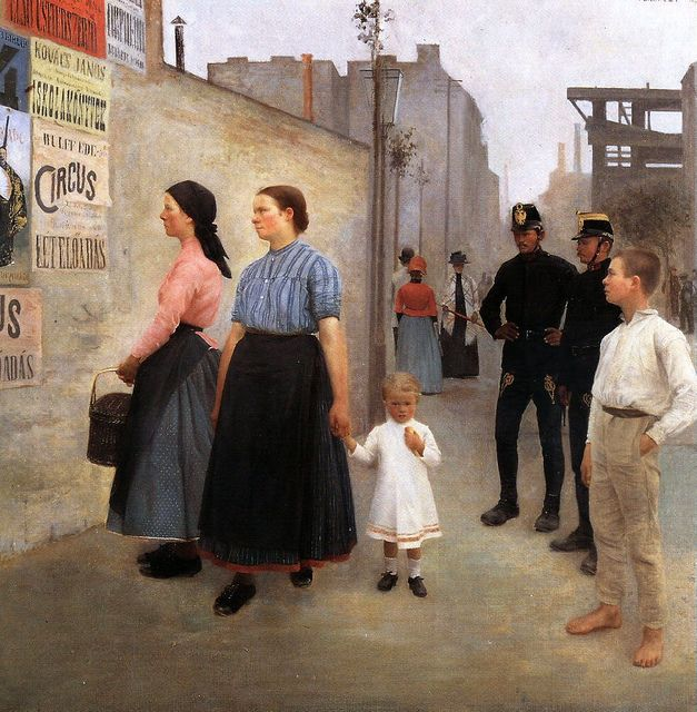 Ferenczy, Karoly (1862-1917) - 1891 Before the Posters (Hungarian National Gallery, Budapest)