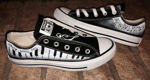 Music Piano Funky Style Converse Shoes by M8d4uArt on Etsy - OMG I want these…