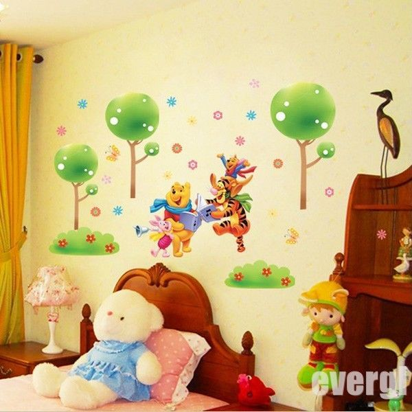 46 best winnie the pooh baby room images on pinterest for Baby pooh and friends wall mural