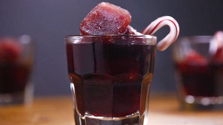 Peppermint-Pomegranate Cosmos. Nothing says the holidays like this minty cocktail!
