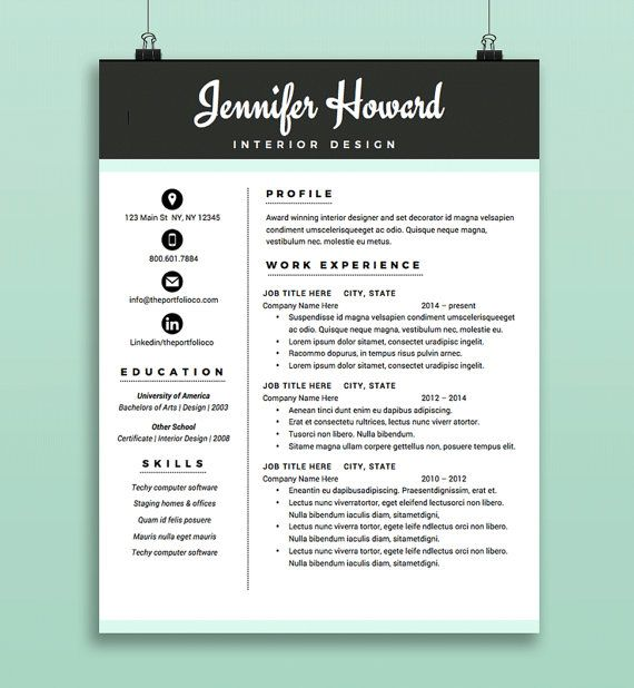 15 best Resume Formats images on Pinterest Cover letter template - winning resume template