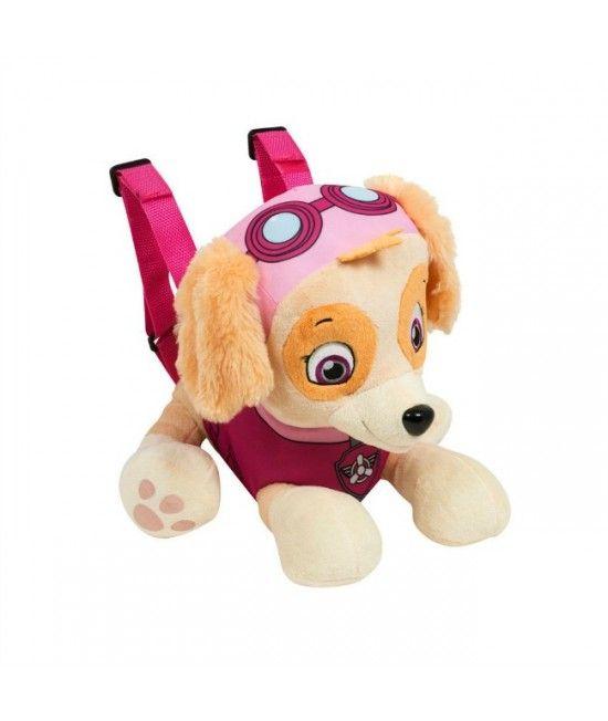 Rucsac din plus sub forma simpaticului personaj din desenele animate Patrula Canina, prevazut cu un mic buzunar in partea inferioara.
