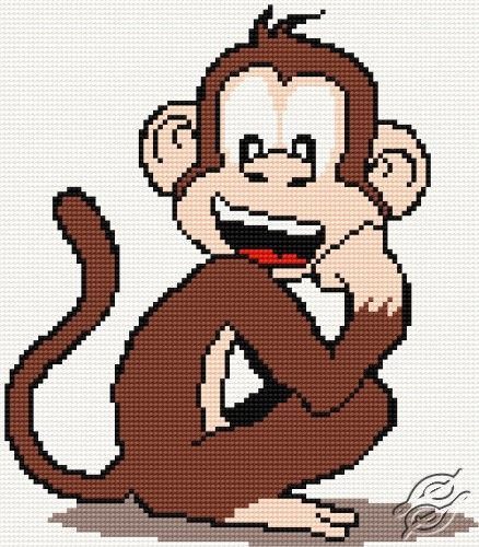 A Small Monkey II - Free Cross Stitch Pattern
