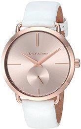 Michael Kors Rose And White Leather Portia Watch (001-019-04167)
