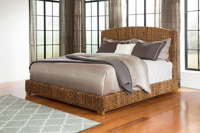 Woven+Banana+Leaf+Queen+Bed!+AVAILABLE+IN+2+COLORS!+TROPICAL+STYLE!