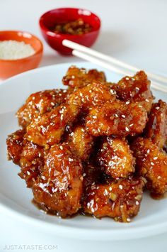 Ditch the deep fryer in favor of an easy recipe for baked orange chicken that's light, crispy and tossed in a tangy sauce.