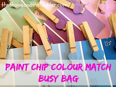7 Busy Bags for Teaching Colours - The Chaos and the Clutter