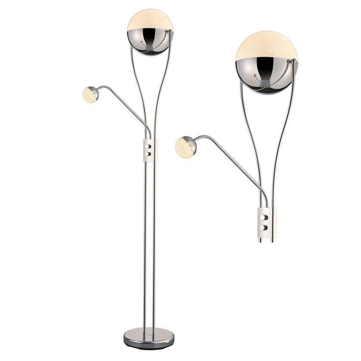130.- LED-Deckenfluter CHRIS - chrom - dimmbar