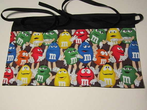 Waitress Half Apron Handmade NEW M&M 3 pockets by SewMyWorld, $12.00
