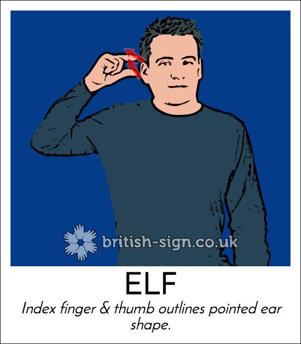 Today's #BritishSignLanguage sign is: ELF #Christmas
