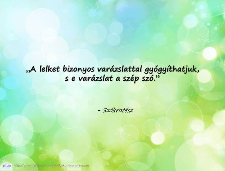 Szókratész idézete a kedvességről. A kép forrása: Komáromi Miklós - The Page