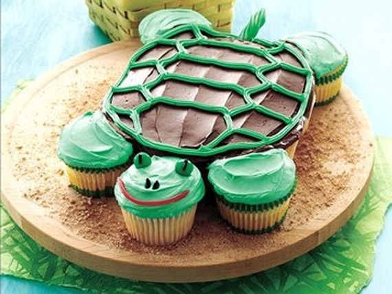 100 Easy Kids birthday Cake Ideas: Turtle Cakes, Cakes Ideas, Kids Birthday, Turtle Cupcakes, Cupcake Cak, Turtles Cupcakes, Turtles Cakes, Cupcakes Cakes, Birthday Cakes
