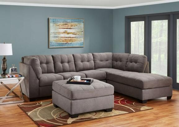 Sectional Sofas The Marlo piece sectional in Charcoal is stunning in this contemporary living room