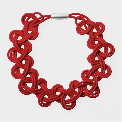 Lace PVC Necklace | MoMAstore.org - Another simple but interesting design. Could make this with plastic cord.
