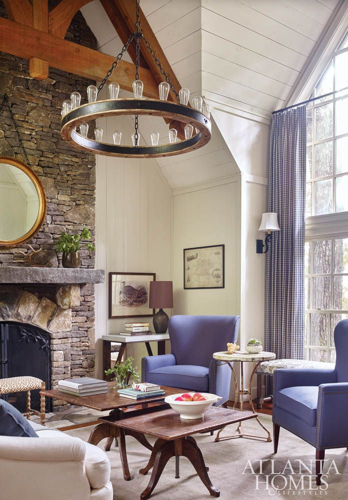 McLaurin Interior // Guest House Sitting Room At The 2015 Cashiers Designer  Showhouse