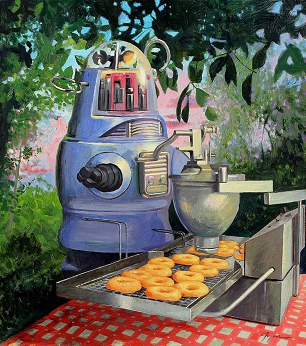 Who needs Krispy Kreme when you have your own robot???  Retro Robots and Donuts – Eric Joyner.