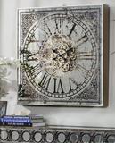 Square Mirror Wall Clock
