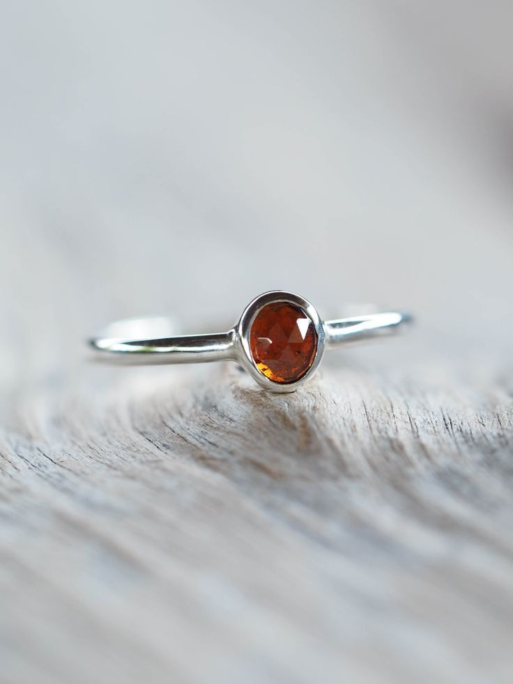 cbdebc1470dd6 Hessonite Garnet Ring in 2019 | Love | Garnet rings, Gold, silver ...