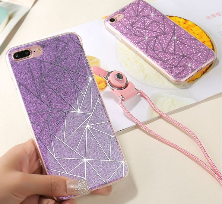 For Apple iPhone 6 6S plus 5 5S Phone Case for iphone 7 7 plus Soft Gel TPU Back Cover Bling Glitter Shimmering Protective Shell - free shipping worldwide