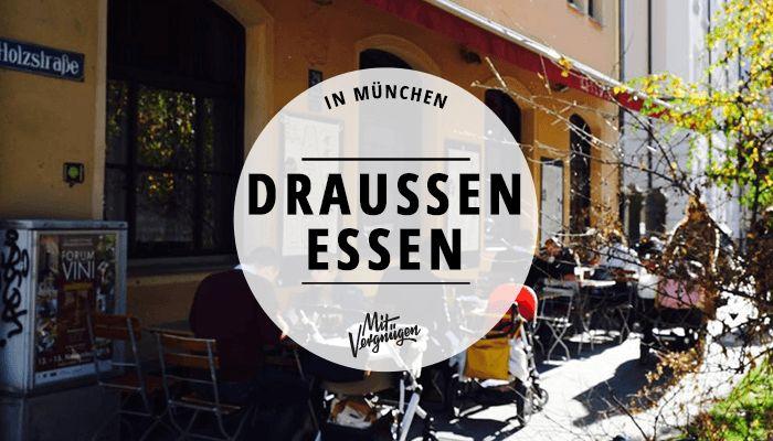 Wenn die Sonne scheint, geht ganz München raus zum Essen und Trinken. Dabei muss es nicht immer der Biergarten sein – 11 Restaurants mit schöner Terrasse.