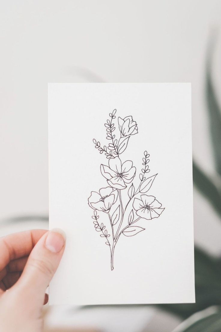Flower Tattoos Outline In 2020 Simple Flower Tattoo Line Art Flowers Flower Outline Tattoo