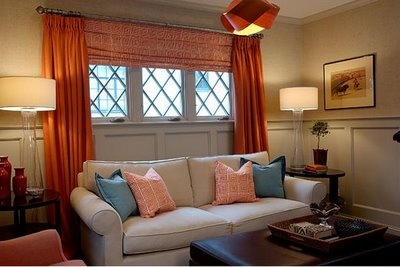 Window Treatment For 3 Windows In A Row For The Home