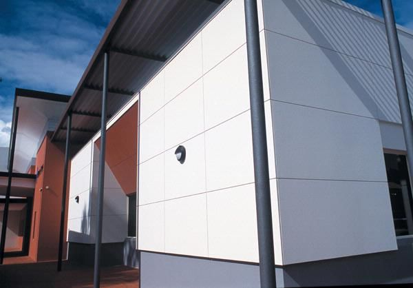 Commercial building panels james hardie commercial for Modern fiber cement siding
