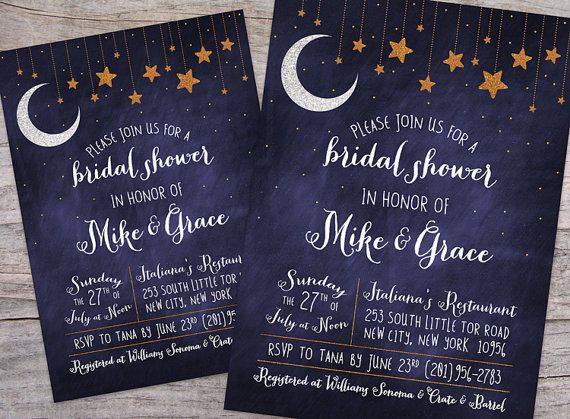 Over the Moon Starry Night Bridal Shower DIY by SprinklesByGracie