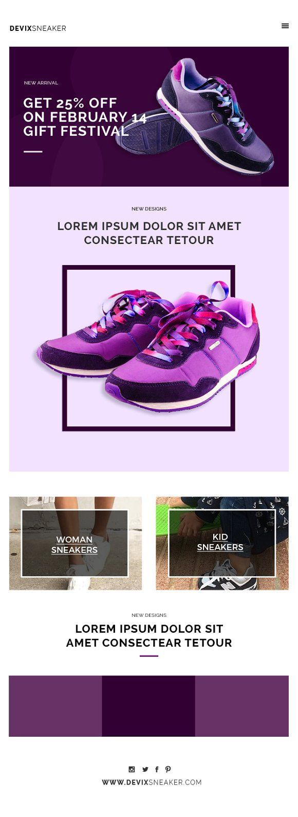 Email marketing templates don't happen to roam in the. Single Product Email Templates By Shadiq Jaya On Creative Market Email Blasts Ideas Of Email B Email Templates Email Template Design Modern Email Templates