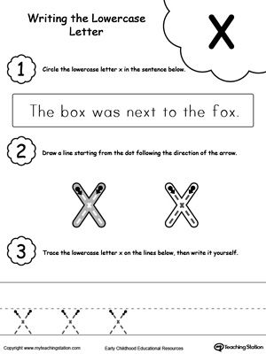 Writing Lowercase Letter X Lettering, Lower case letters