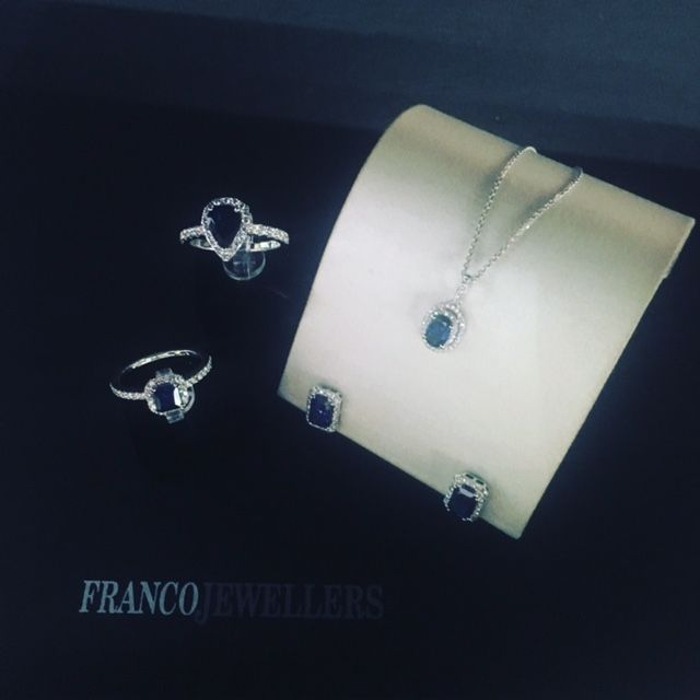 Its spring soon and when its spring the birthstone is ‪#‎blue‬ sapphire , so beautiful , so vibrant and so happy ... Jewellery with style and conviction www.franco.com.au