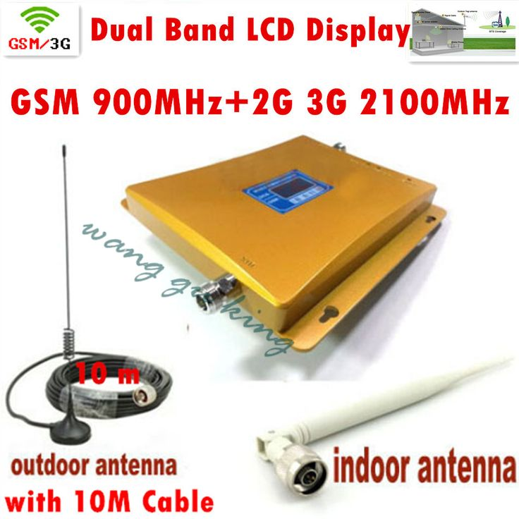 ==> [Free Shipping] Buy Best FULL SET LCD Booster High Gain Dual Band Mobile Phone 2G 3G Signal Booster GSM 900 mhz W-CDMA 2100 mhz Signal Repeater Amplifier Online with LOWEST Price | 32798381621