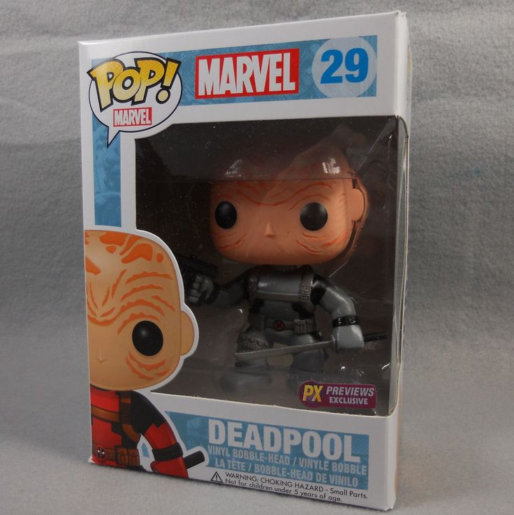 X-Force Unmasked Deadpool Funko Pop #29 Vinyl Bobble Marvel Comics PX Previews #Funko #Deadpool