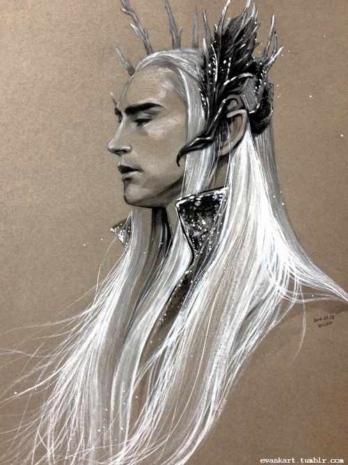 """'But there was in Thranduil's heart a still deeper shadow. He had seen the horror of Mordor and could not forget it. If ever he looked south its memory dimmed the light of the Sun......' -Unfinished Tales by J.R.R Tolkien"""""""