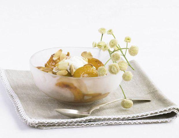 Abricots grillés, mascarpone à la vanille