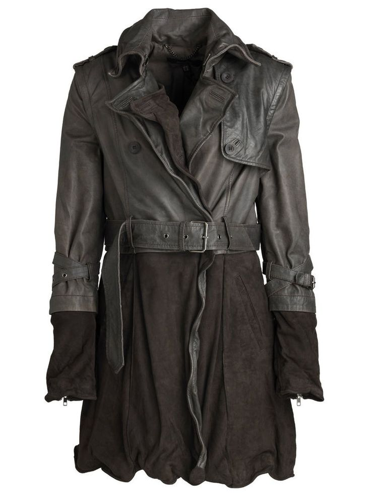 Rare Muubaa $850 4 in 1 Brown Suede Leather Belted Trench Coat Jacket 6 #Muubaa #Trench