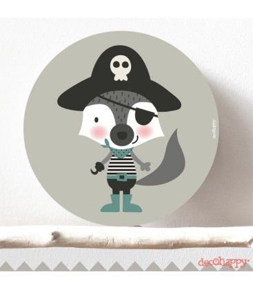Cuadro infantil Zorro pirata