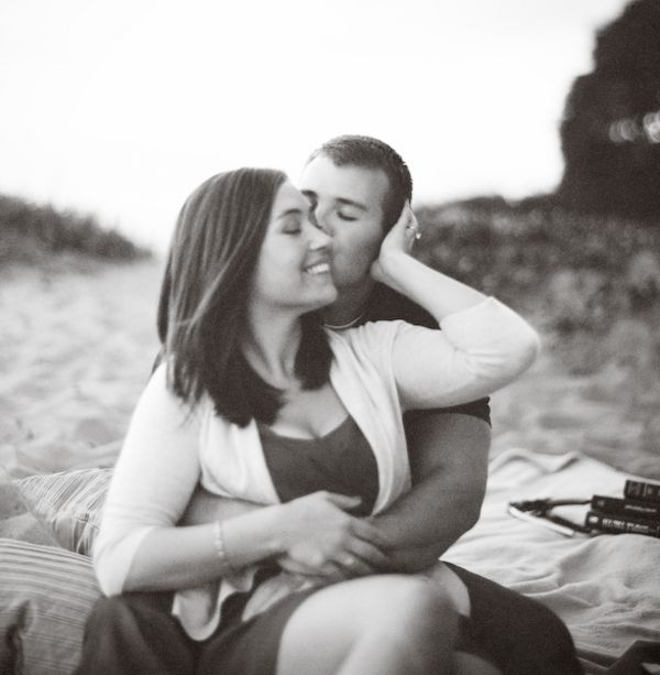 cute beach engagement pictures
