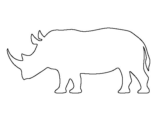 Rhinoceros Pattern. Use The Printable Outline For Crafts
