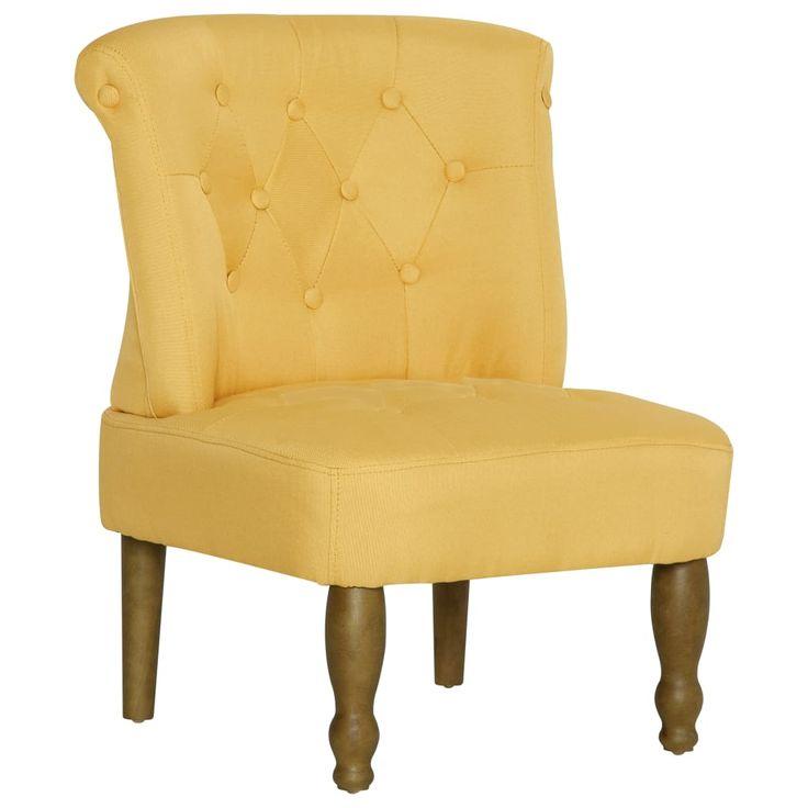 Vidaxl Franzosischer Stuhl Gelb Stoff In 2021 Chair Fabric French Chairs Chair