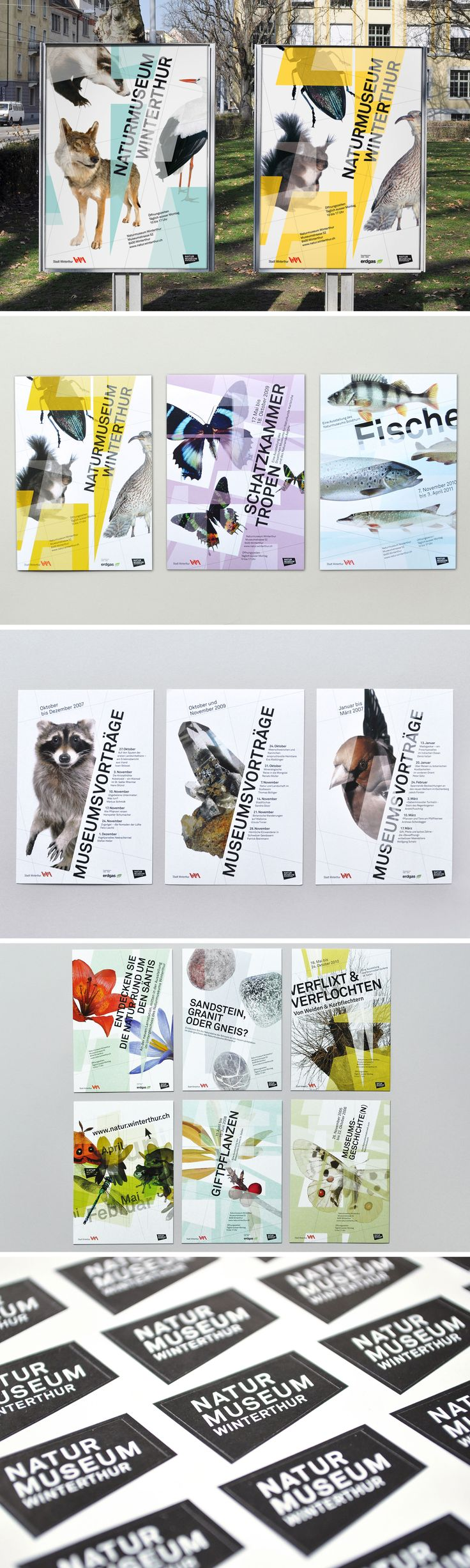 Printed matter and exhibition graphics for Naturmuseum Winterthur #exhibitiondesign #poster #flyer