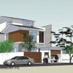 Thiết kế biệt thự 3 tầng hiện đại Quảng Ninh