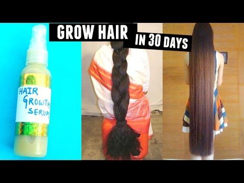 how to grow long thick hair in a month