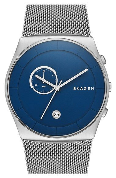 Skagen 'Havene' Chronograph Mesh Strap Watch, 42mm available at #Nordstrom