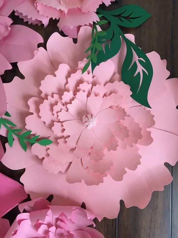 Telón de fondo de flores flores de papel por PoppiesandPaperShop