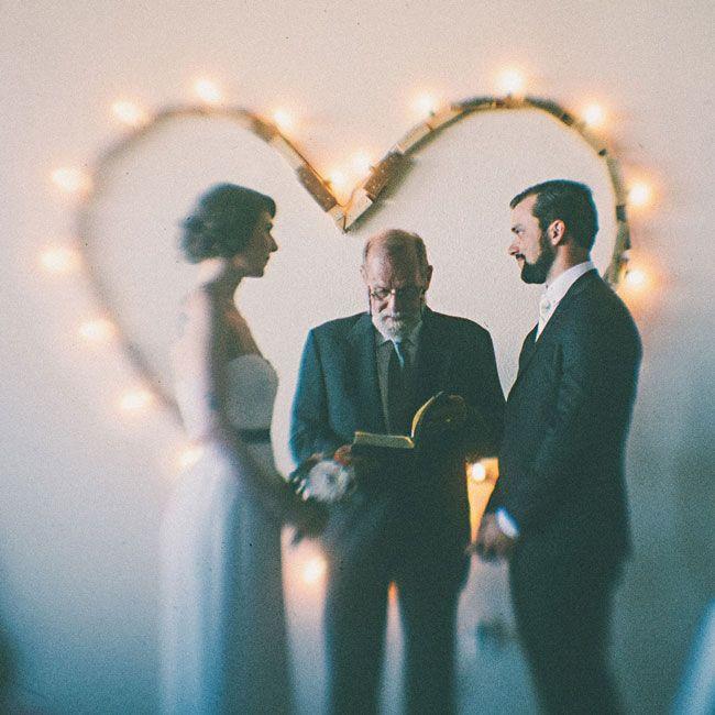<3 the homemade <3-backdrop - Real Wedding: A Washington Warehouse Wedding by One Love Photo - via loveandlavender