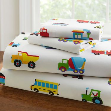 Olive Kids Trains Planes & Trucks Sheet Set - http://www.theboysdepot.com/olive-kids-planes-trains-trucks-sheet-set.html