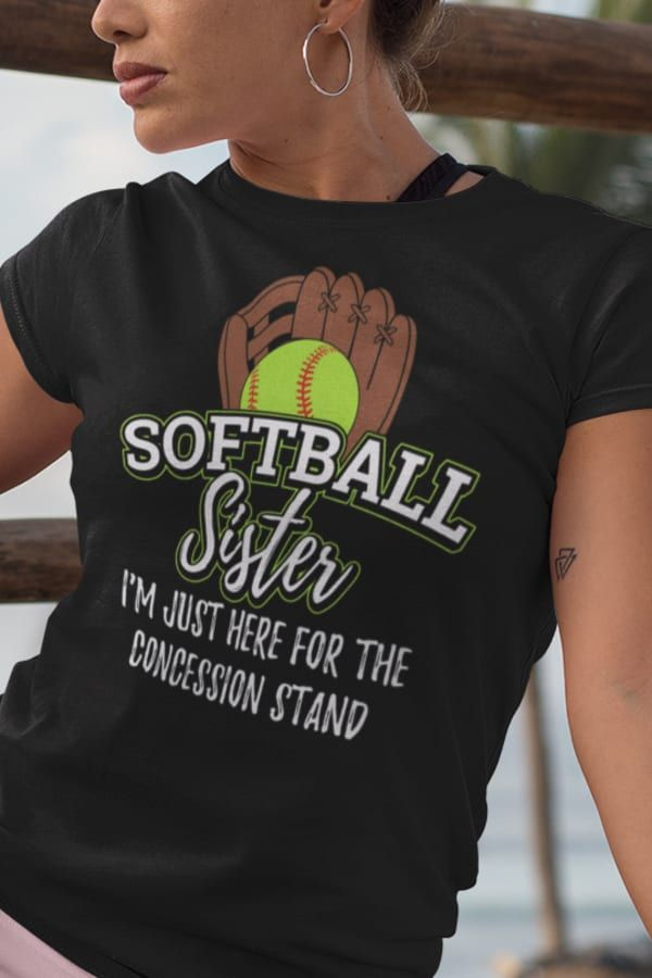 I/_m Just Here for The Concession Women Sweatshirt Volleyball Sister tee