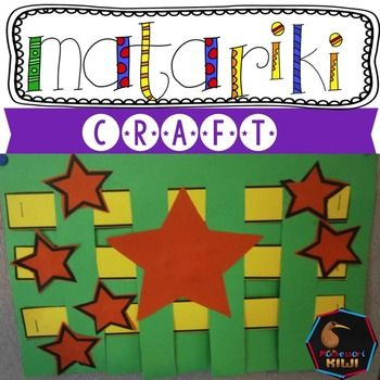 An easy Matariki craft - great for junior classes. Children complete a simple weaving activity and then glue on stars in the shape of the Matariki Constellation.